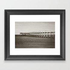 navarre pier Framed Art Print