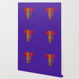 Rainbow Ganesha (Purple Background) Wallpaper