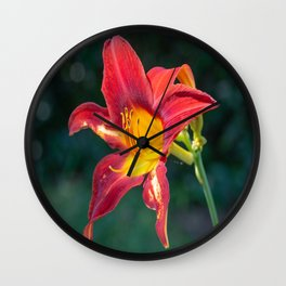 Red Lily-2 Wall Clock