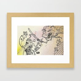 The Samurai Framed Art Print