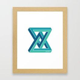 geometric triangle Framed Art Print