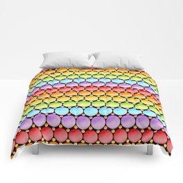 Rainbow Dotty Stripes Comforters
