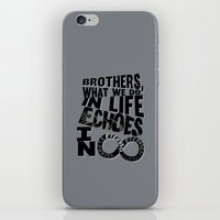 gladiator iPhone & iPod Skins featuring echoes in eternity.. gladiator... inspirational quote by studiomarshallarts