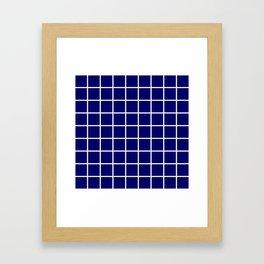 dark blue cube Framed Art Print