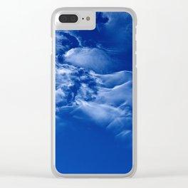 Dark blue sky Clear iPhone Case