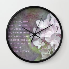 All Good Things Will Be Yours Wall Clock