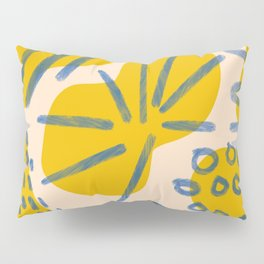 Abstract minimalism shapes - colorful minimalism print - minimal palette design print Pillow Sham