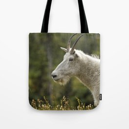 Age and Wisdom in a Mountain Goat Tote Bag