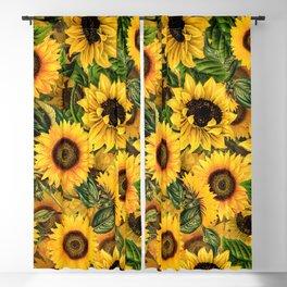 Vintage & Shabby Chic - Noon Sunflowers Garden Blackout Curtain