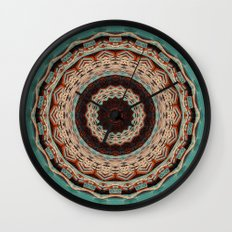 Southwest Mandala Wall Clock