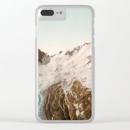 Vintage Mountain Peaks Clear iPhone Case