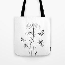 Flowers and butterflies 2 Tote Bag