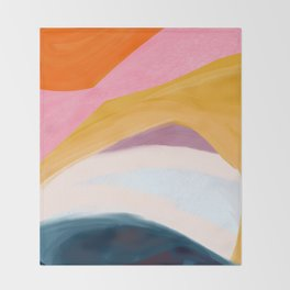 Let Go - no.36 Shapes and Layers Throw Blanket
