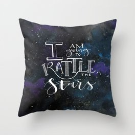 Rattle the S T A R S Throw Pillow