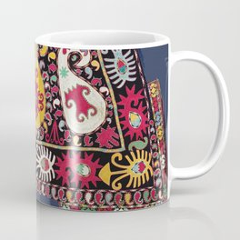 Lakai Tribal Nomad Antique Uzbekistan Horse Cover Print Coffee Mug