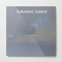Winter landscape of Suðurland, Iceland Metal Print