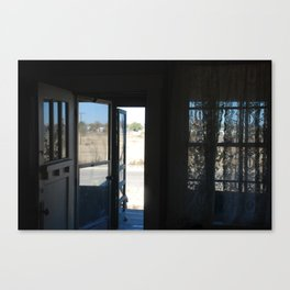 A screen door in Marfa, Texas Canvas Print