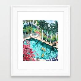 Luxury Villa #illustration #painting Framed Art Print