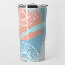 Orange blue fantasy Travel Mug
