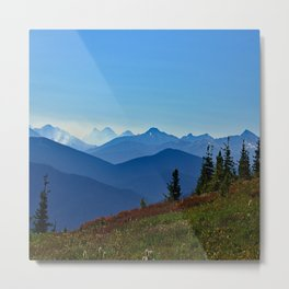 Endless Blue Metal Print