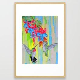J Humming Bird Framed Art Print