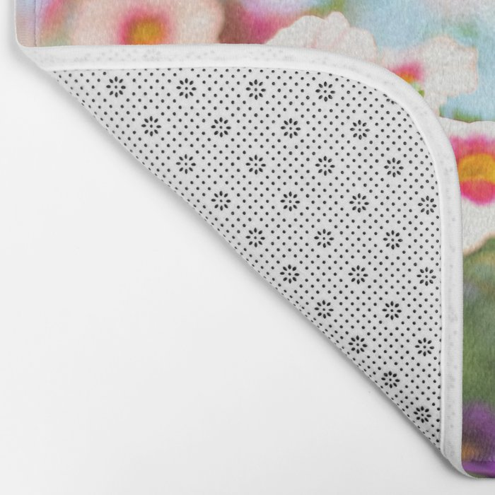 Summer flower vibes #1 #decor #art #society6 Bath Mat