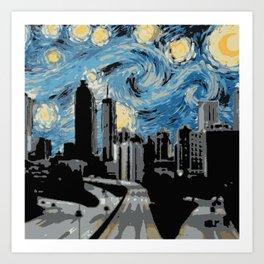 Atlanta Starry Night Art Print