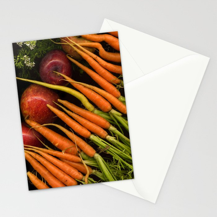 Carrots and Apples Stationery Cards
