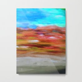 Serenity Abstract Landscape 2 Metal Print