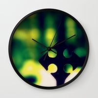 cross Wall Clocks featuring Cross by Leffan