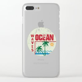 Surfer , beach vacation,ocean, surfing the waves Clear iPhone Case