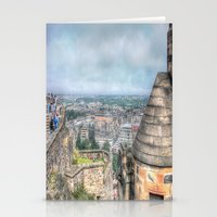 edinburgh Stationery Cards featuring Edinburgh Castle by Christine Workman