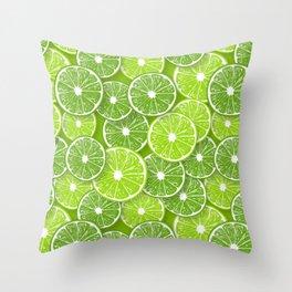 Lime pop Throw Pillow