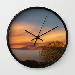 Sculpted Sky Wall Clock