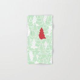 Elegant Green Christmas Trees Holiday Pattern Hand & Bath Towel