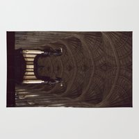 college Area & Throw Rugs featuring King's College Cambridge by David Hohmann