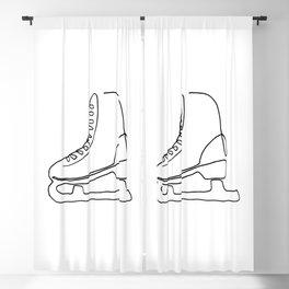 One line skate Blackout Curtain