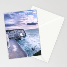 Natural Rock Arch -  ocean, coastal cliffs, waves, clouds, Stationery Cards