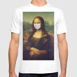 Mona Lisa with Respirator Mask T-shirt