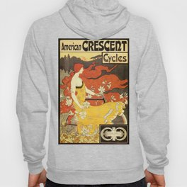 Vintage American art nouveau Bicycles ad Hoody