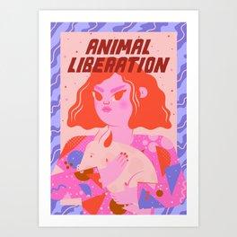 Animal Liberation Art Print
