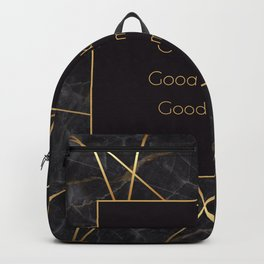Black and Gold marble collection Backpack