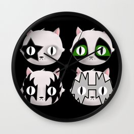 Hiss Cats - Makeup to Breakup Wall Clock