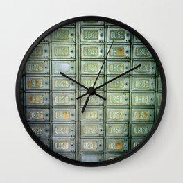 PO boxes Wall Clock