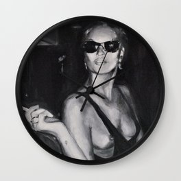 Kate Moss Painting  Wall Clock