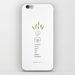 Storms In My Head iPhone Skin