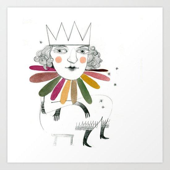 queen margherita Art Print