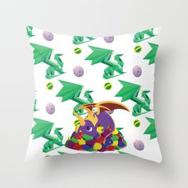 Paws Off Moneybags! Throw Pillow
