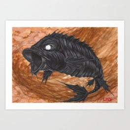 Koi Series, On the heels of war came a black horse, and Famine followed with him. Art Print