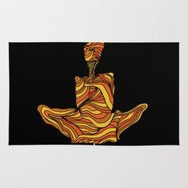 """Focus"" - orange yoga peace channel float swami yogi levitate Rug"